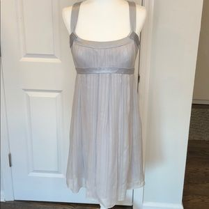 Moving sale MUST GO Silver silk dress so soft